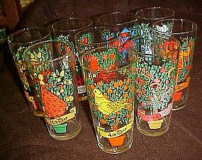 Brockway Pepsi 12 days of Christmas glass, 11th day