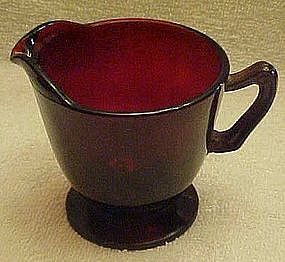 Anchor Hocking Royal Ruby footed creamer