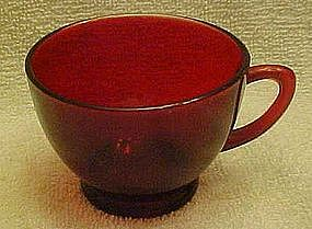 Fire King Royal Ruby  punch cup