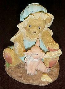 Enesco Cherished Teddies, Marsha and Pinky,  Hogs and..