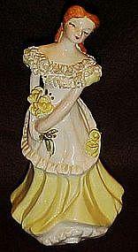Vintage California pottery lady Kay Finch, Yona, Ynez