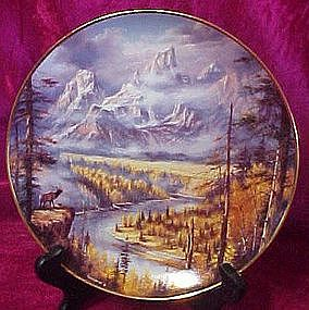 Frosty Morning. by Rudi Reichardt, collector plate