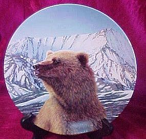 """Wild Spirits series, """"Mighty Presence"""" collector plate"""