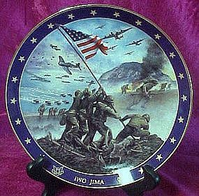 Iwo Jima collector plate, from Visions of Glory series