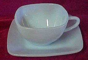 Fire King azure blue charm cup and saucer