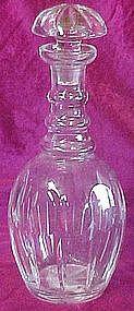 Vintage crystal bar decanter