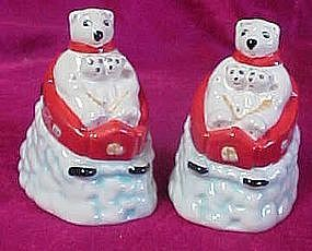 Coca Cola sledding polar bears, salt