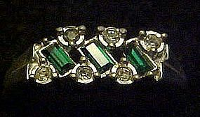 Vintage 1975 Evening Classic ring by Avon, Emerald