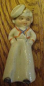 Little deco style sailor boy salt shaker, single