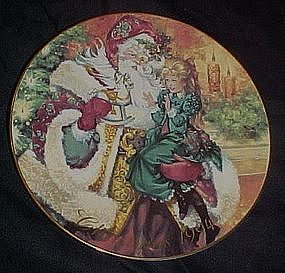 Avon annual Christmas plate, 1994, The wonder of.......