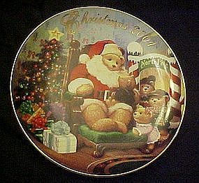 Avon annual Christmas plate 2001, A visit from Santa