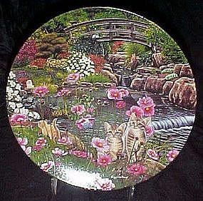 Nine Lives plate by Higgins Bond, Garden Secrets series
