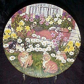 Bloomin Kitties plate by Higgins Bond, Garden secrets