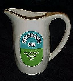 Seagrams Gin porcelain advertising martini pitcher