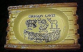 Oregon Caves vintage souvenir ceramic ashtray