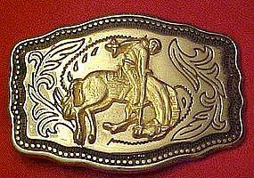 Bronc rider / bucking horse belt buckle