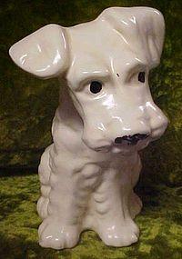 Large vintage pottery terrier dog figurine, McCoy?
