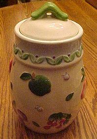 Embossed hand painted fruits cookie jar, ALCO Int