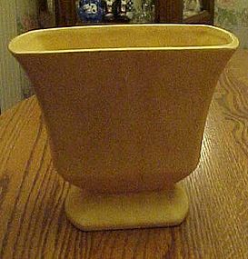 McCoy Floraline yellow speckled vase 453