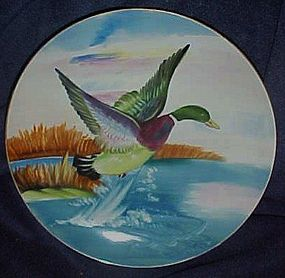 Vintage hand painted Lefton Duck plate