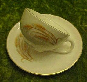 Homer Laughlin Golden Wheat cup and saucer