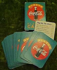 Vintage Coca Cola mini deck of playing cards