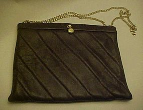 Vintage Ande brown leather  convertible clutch purse