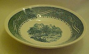 Currier and Ives coupe soup bowl by Anchor Hocking