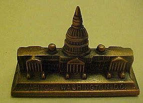 Vintage souvenir Capitol building in Washington DC