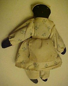 Little black americana rag doll with embroidery face