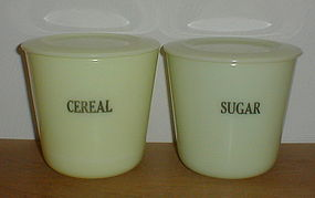 McKee 48 oz. Sugar & Cereal Canisters, Seville Yellow