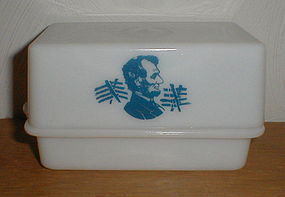 """McKee """"Abe Lincoln"""" 1 lb. Butter Dish"""