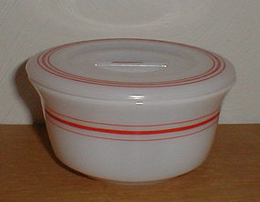 Hazel Atlas Red Stripe Refrigerator Dish