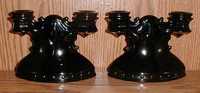 Mt. Pleasant black Double Branch Candle Holders