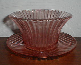 """Pink Queen Mary 5"""" Mayonnaise Bowl & Underplate"""