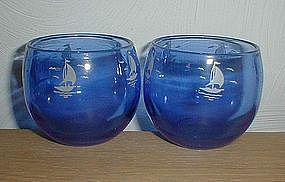 Cobalt SHIPS Roly Poly Tumblers
