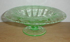 "Paden City Black Forest 9 3/4"" green Console Bowl"