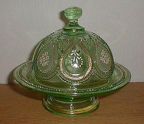 SCROLL with ACANTHUS Footed Butter/Cheese Dish