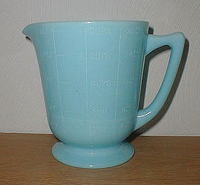 McKee Chalaine Blue 4 Cup Measuring Pitcher