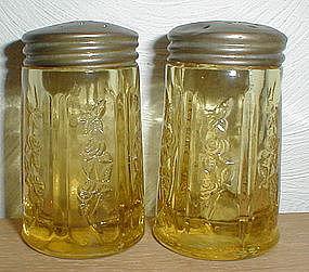 Amber SHARON Salt & Pepper Shakers