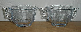 CLEO Willow Blue Footed Creamer & Sugar