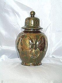 Jade, Gold and Copper Ginger Jar