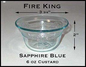 Fire King Sapphire Blue Flared 6 Ounce Custard Cup