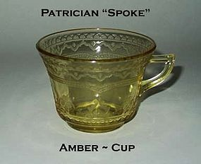Federal Glass ~ Patrician Spoke ~ Amber Coffee Cup