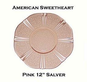 "MacBeth-Evans American Sweetheart Pink 12"" Salver"