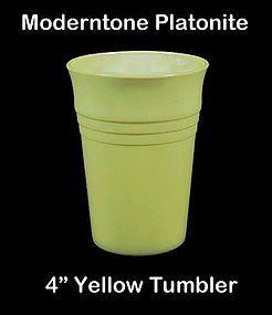Moderntone Platonite Pastel Yellow 4 inch Water Tumbler
