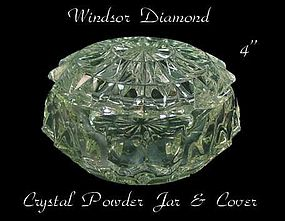 Jeannette Glass - Windsor Diamond Crystal Powder Jar
