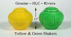 Vintage HLC Genuine Riviera SALT & PEPPER Shakers