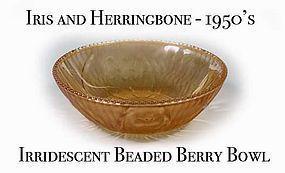 Iris & Herringbone Irridescent Beaded Berry Bowl