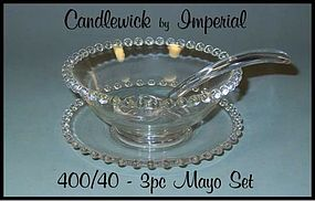 Imperial Candlewick 400/40 - 1940's 3pc Mayo Set